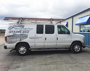 CARE truck preparing to deliver professional kitchen services from our certified technicians